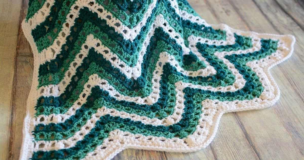 Sea Breeze Chevron Afghan Crochet Pattern By Crafting Friends