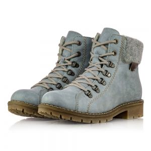 b36ebc47e636 Dámske bledo-modré zimné čižmy Rieker Y9142-10