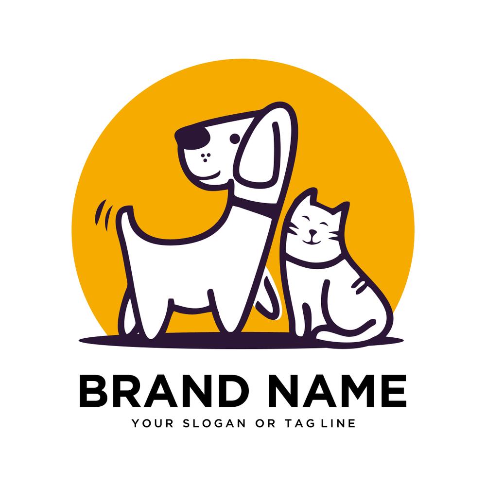Creative Logo Design Dog Cat Vector Logo Design Creative Dog Design Creative Logo