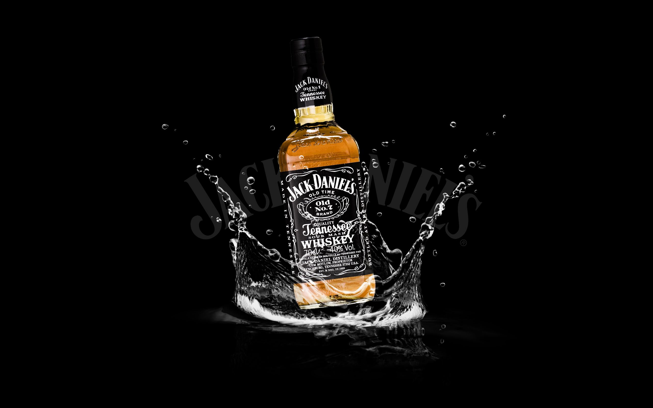 Awesome jack daniels water black background hd wallpaper places jack daniels on water widescreen wallpaper hd desktop background pc top picture voltagebd Gallery