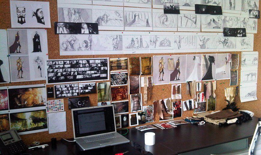 Ben Hibon's work desk. So cool.