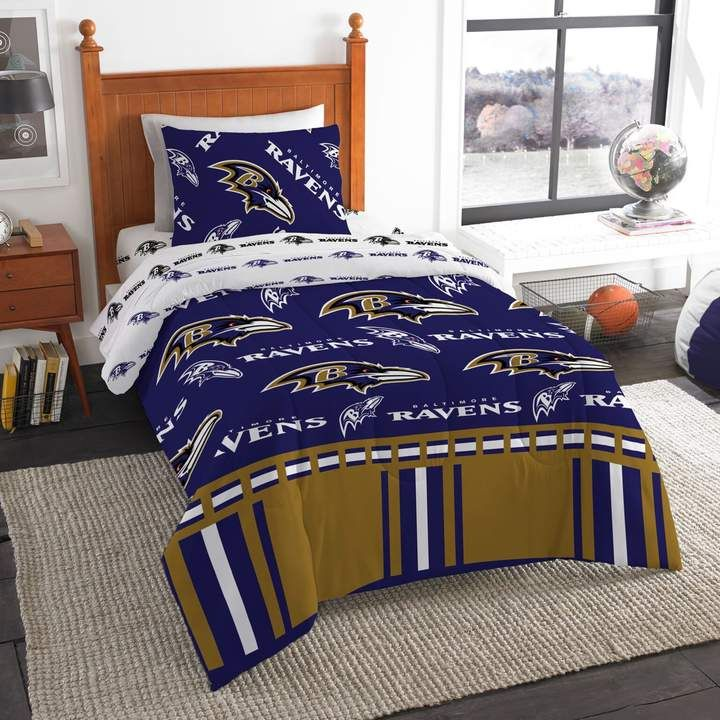Baltimore Ravens Twin Bedding Set By Northwest Bed In A Bag Bed