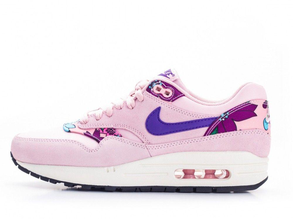Nike Air Max 1 Print Womans Aloha Pack Pink Glaze Varsity