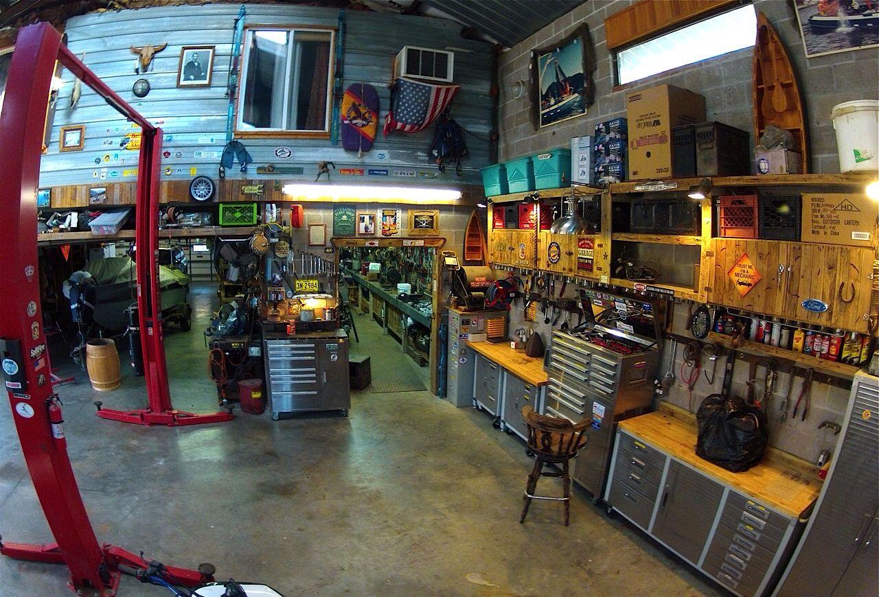 Backyard Man Cave Shed Garage Ideas Pinterest Men Cave And - Man cave garage bar