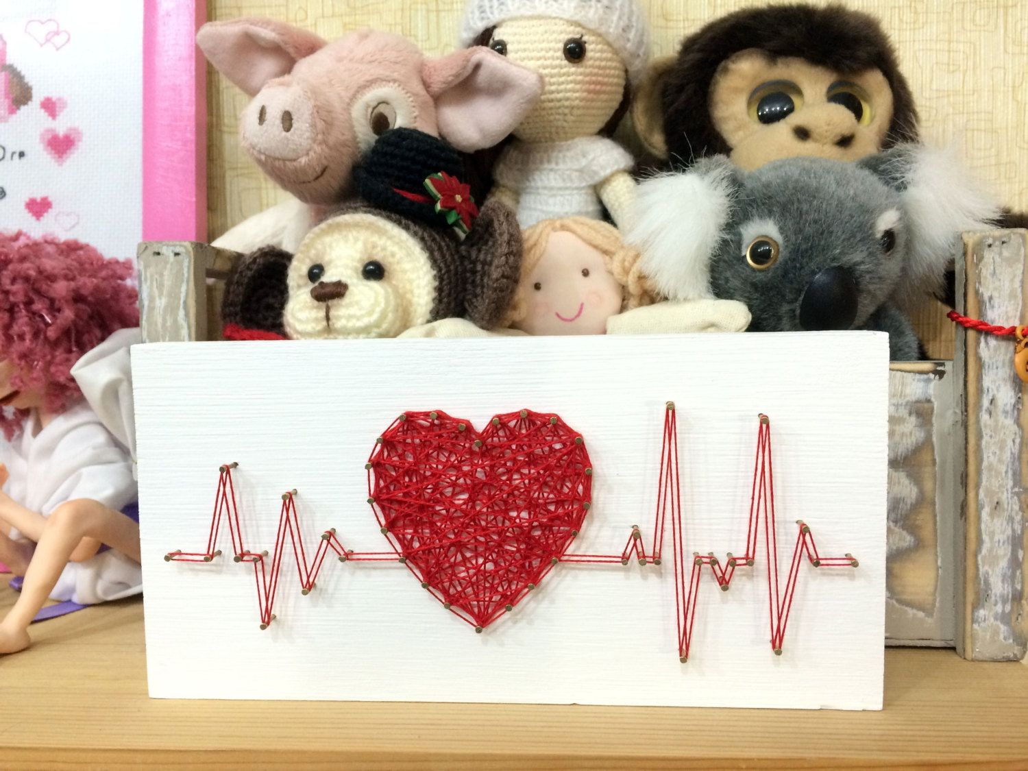 DIY String Art Pattern Rhythm Heart Beat, Pattern and Instructions ...