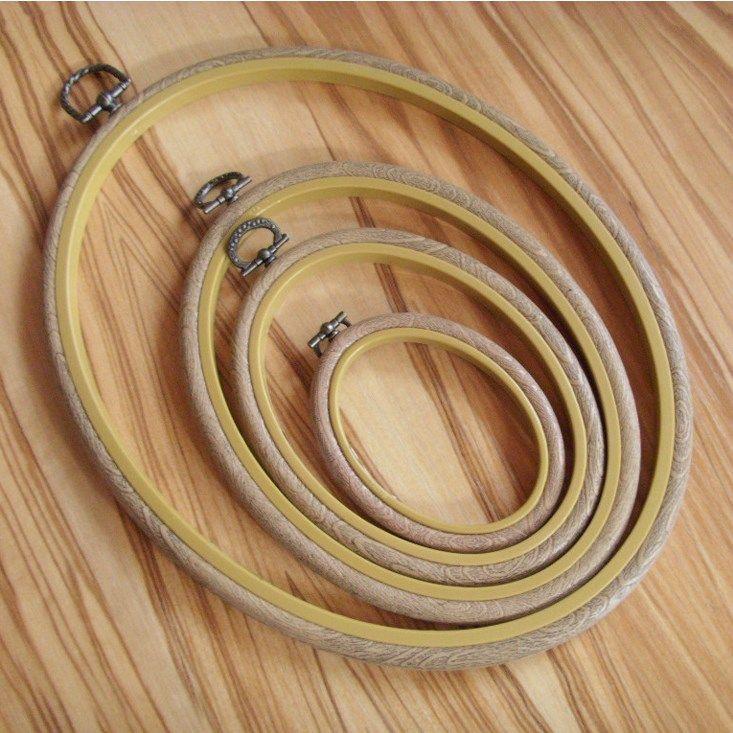 TAMAÑO: 8INCH * 10INCH forma oval de la vendimia de plástico disponibles bastidor de bordado