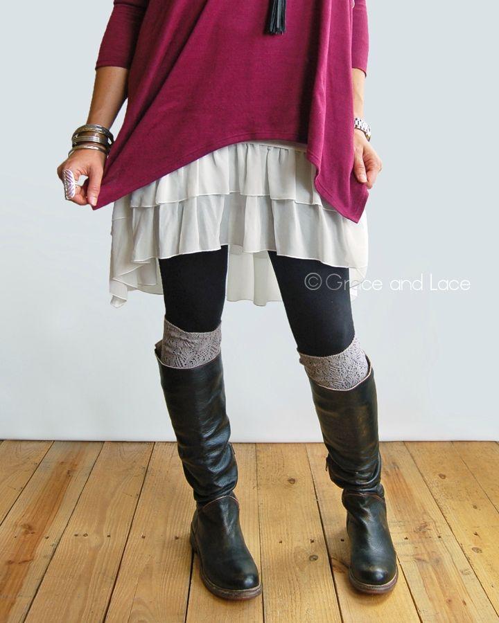 a1c0d4518f2ce Chiffon High-Low Extender | Fashion | Grace, lace, Leggings fashion ...