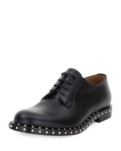 Valentino Rockstud Chaussures Derby - Marron 4ILwKWsp