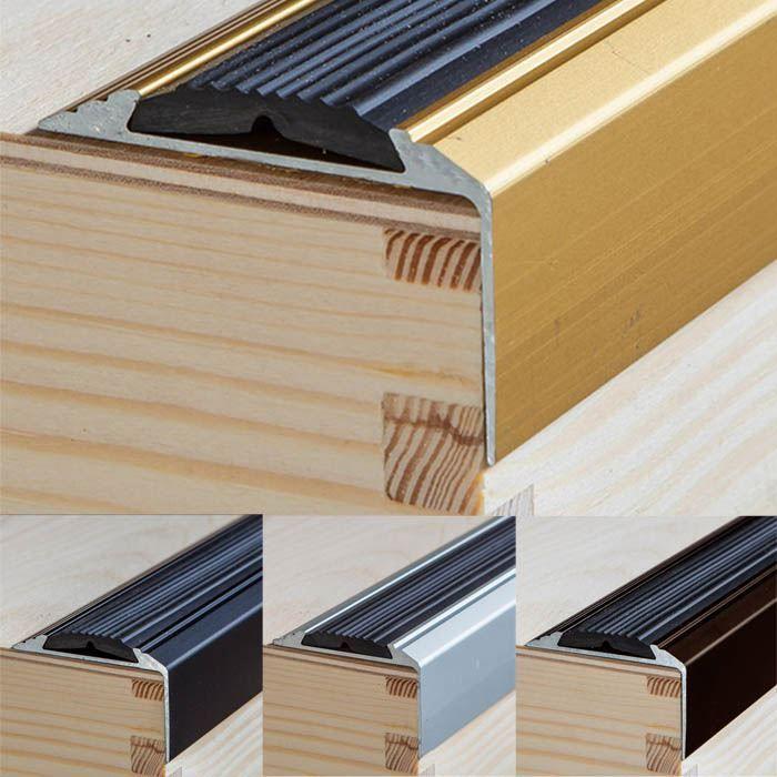 Best Details About Anodised Aluminium Anti Non Slip Stair Edge 640 x 480