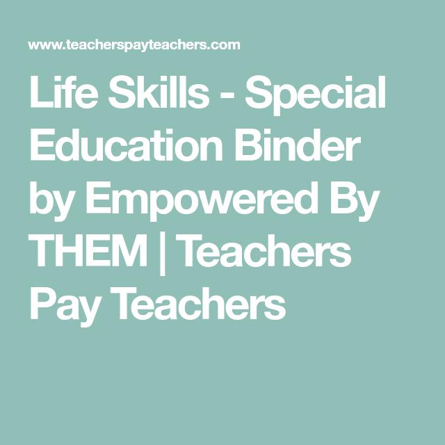 Life Skills - Special Education Binder