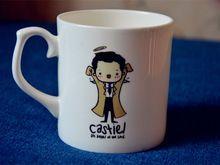 New Quality Bone China Coffee Mug Cup SuperNatural Cartoon Castiel An angel of…