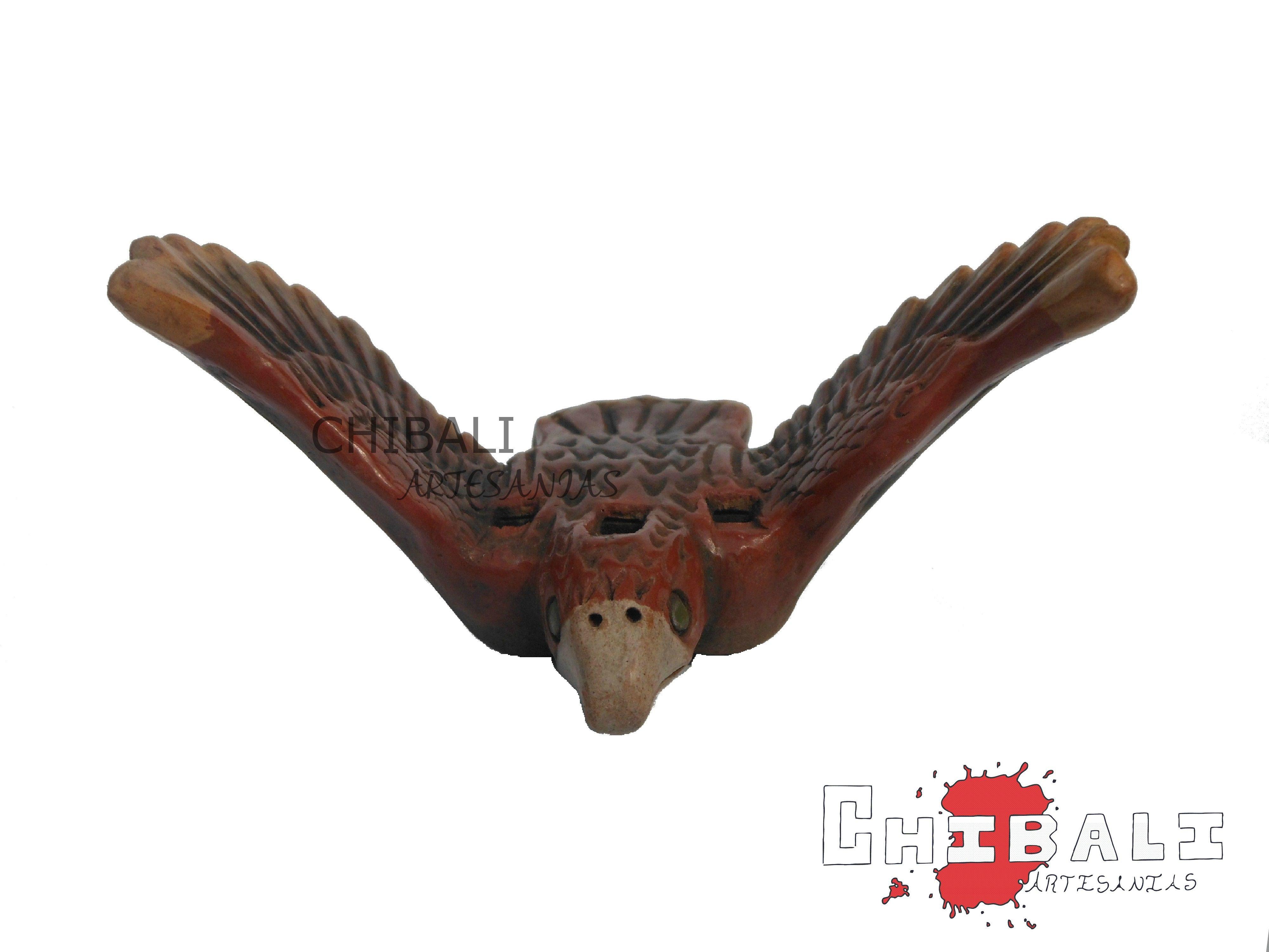 ALEFL-AGU01  Alto: 6.5 Ancho: 11.5 Largo:9  Pequeña #flauta de #barro en forma de #águila.