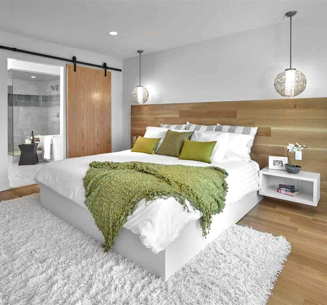 Bedroom Ideas Beautiful Decor We Like The Wooden Half Wall And The Sliding Door Who Lead To The Bathroom White And Green Deco Bedroom Makeover Home Fix Home Bedroom half wall ideas
