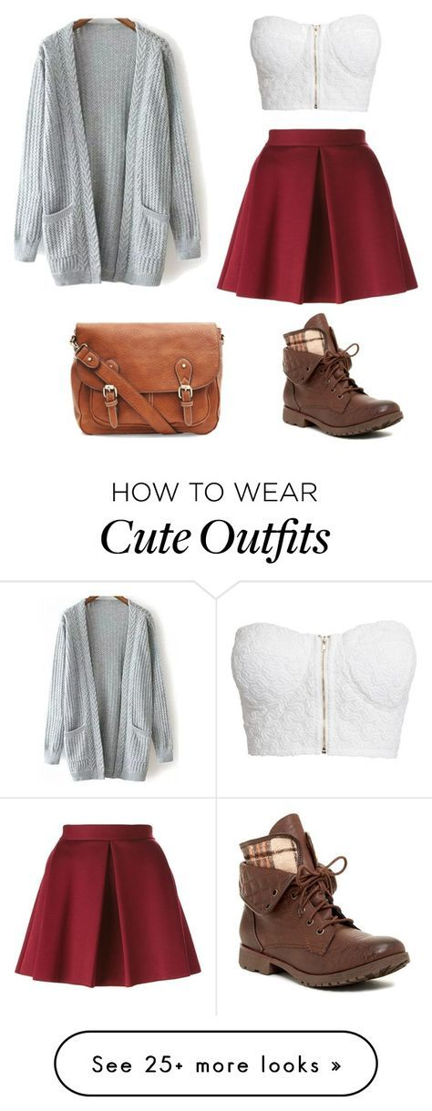 Cute outfit for fall that I would wear  by morgannscott on Polyvore featuring NLY Trend, P A R O S H  and Rock & Candy is part of Cute fall outfits -