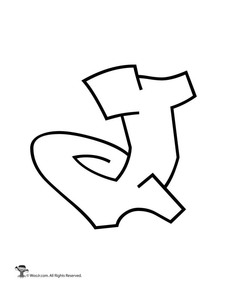 Graffiti Capital Letter J Woo Jr Kids Activities Graffiti Lettering Graffiti Lettering Alphabet Graffiti Lettering Fonts