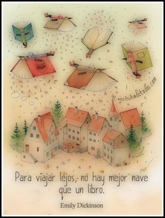 Leer no sólo sirve para aprender, también sirve para volar y viajar.