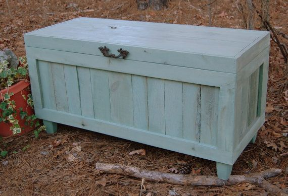 Extra Large Hope Chest End Of The Bed By Looneybintradingco 450 00 Diy Storage Bench Large Storage Bench Storage Bench Bedroom