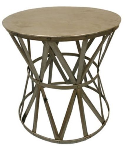 Round-Nickel-Drum-Side-Table-Industrial-metal-iron-silver-coffee-stool-bedside