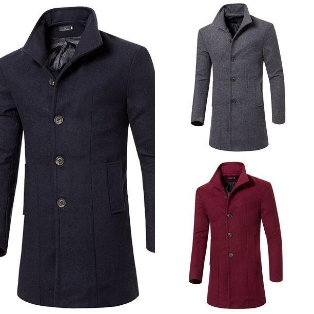 -30C today in Montreal - Put your coat on!  Men Winter Wool Jacket - $99.99