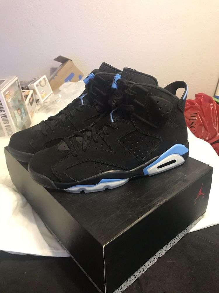 half off 78a52 134b4 Air Jordan 6 Retro VI UNC Black University Blue North Carolina Size 11   fashion  clothing  shoes  accessories  mensshoes  athleticshoes (ebay link)