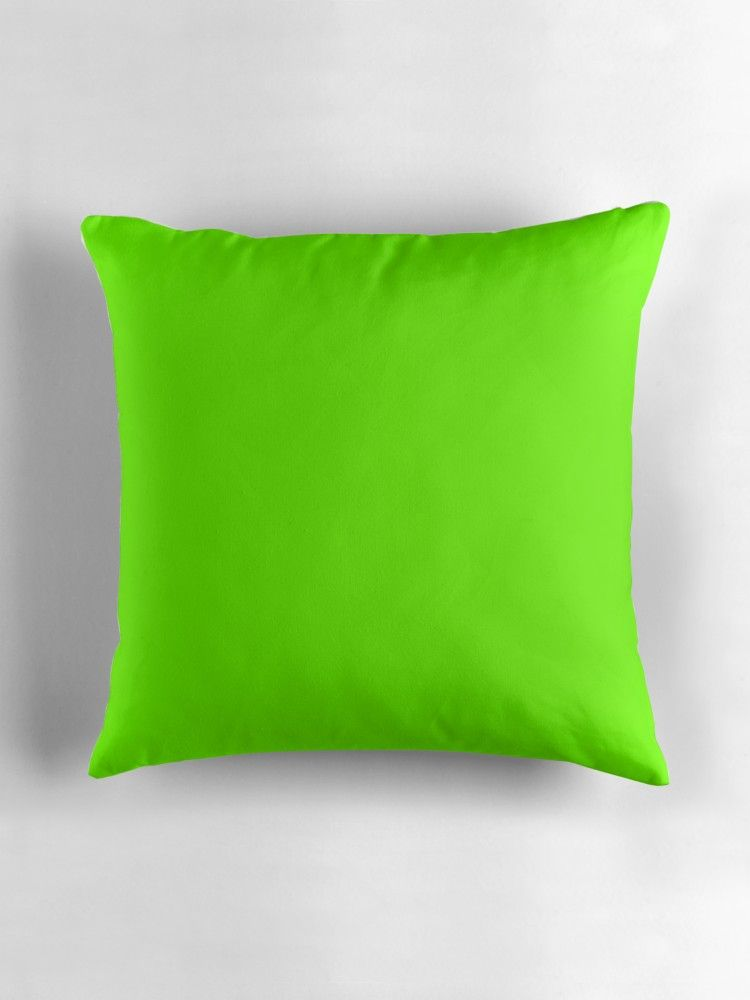 Super Bright Chartreuse Solid Neon Green Throw Pillow Green