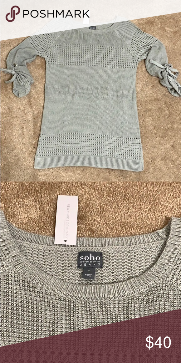 NY&CO Sweater with tie sleeves