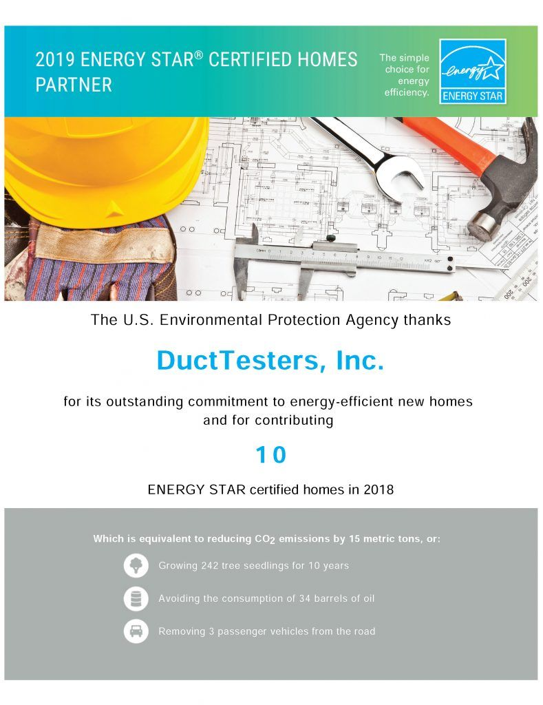 U S Environmental Protection Agency Thanks Ducttesters Again Energy Energy Star Environmental Protection Agency
