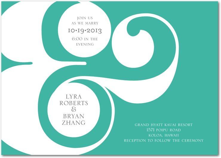 Sophisticated Symbol Wedding Invitation