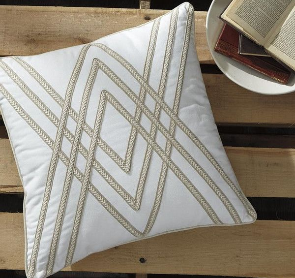Flirting with a geometric braided design, the exceptionally versatile Morrill accent pillow cover puts the accent on texture, not frills. Soft, soothing neutral tones make it a natural fit.