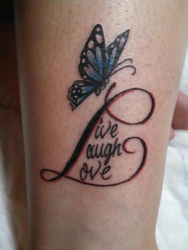 My live laugh love tattoo i love it my tattoos for Live love laugh tattoo