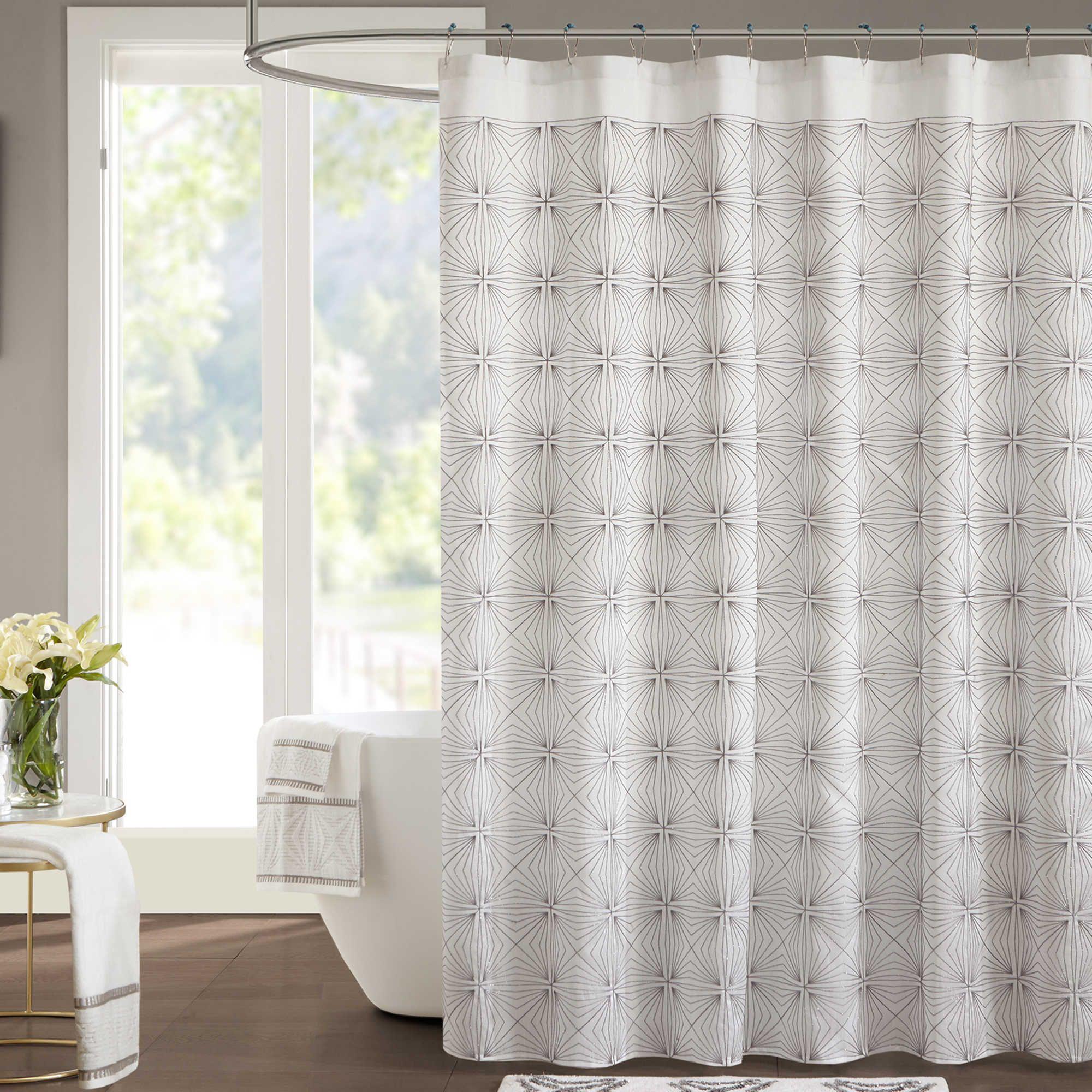 Sinatra silver shower curtain - Jla Coty Shower Curtain