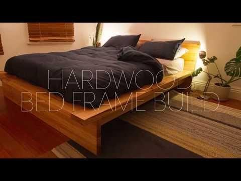 DIY Hardwood Bed Frame Build - YouTube | Home Remodeling & Repair ...