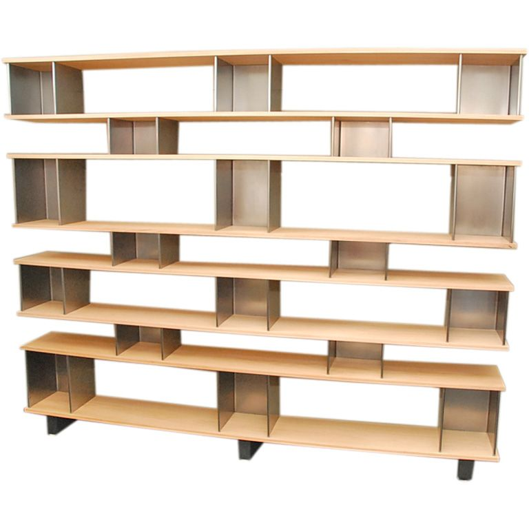 Large shelving unit in the style of Charlotte Perriand - Large Shelving Unit In The Style Of Charlotte Perriand The O