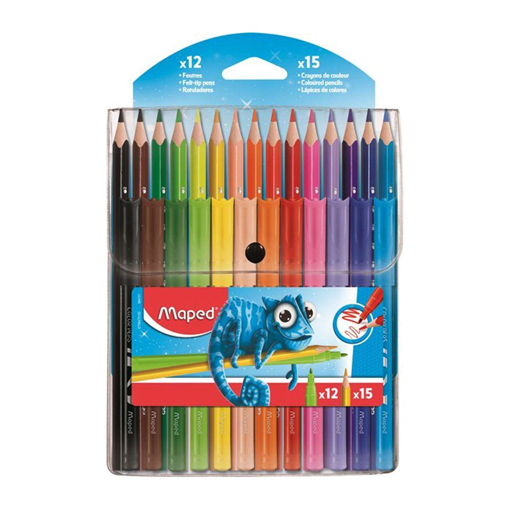 طقم ألوان خشبية و فلوماستر Maped Office Supplies Pen