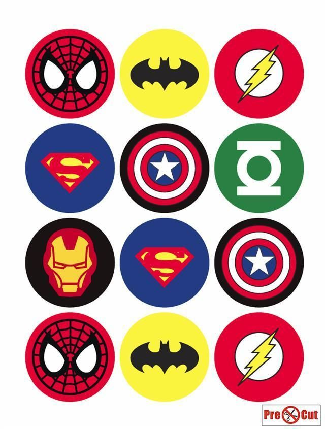 PRE-CUT Superhero Batman Edible Cup Cake Toppers Party Decoration Pack of 12