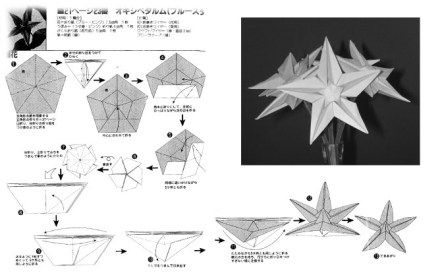 Origami star flower video tutorial origami stars star flower and origami star flower diagram mightylinksfo