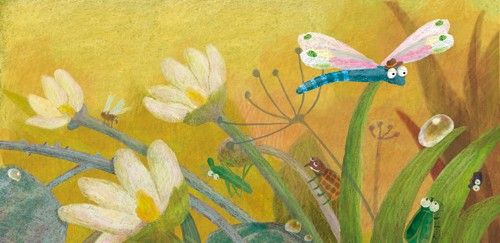 Inna Chernyak Illustration - inna, chernyak, inna chernyak, digital, commercial, educational, paint, painted, picturebook, picture book, animal, animals, insect, insects, grass, grasses, flowers