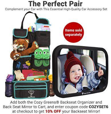 Cozy Greens Backseat Car OrganizerEco Friendly