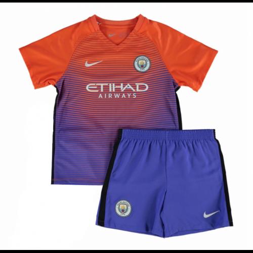16 17 Manchester City Third Away Purple Children S Jersey Kit Shirt Short Kids Football Shirts Soccer Jersey Cheap Football Shirts
