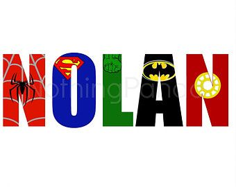Superhero Wall Art custom superhero name print // any name // superhero wall art