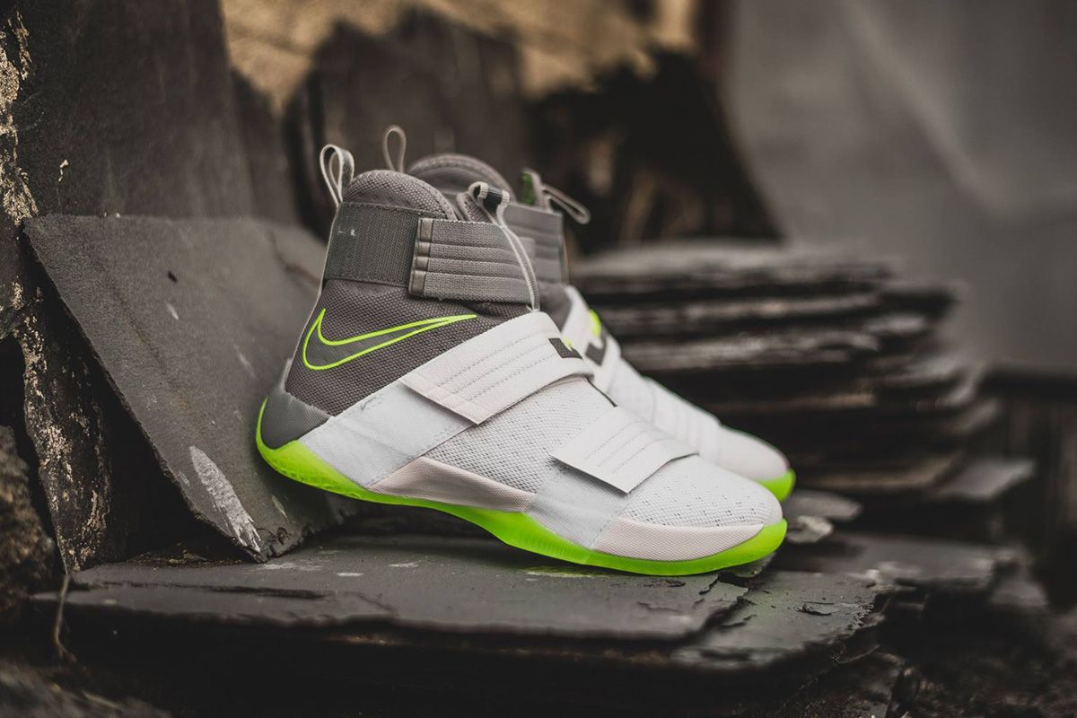 A closer look at the Nike LeBron Zoom Soldier 10 Dunkman is featured. Look  for it at Nike retailers overseas first. 37c1a361a