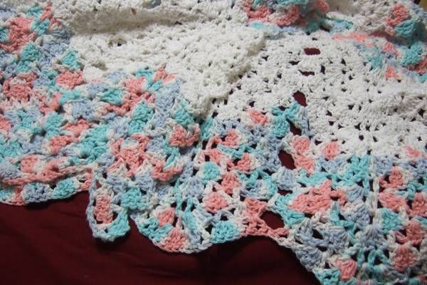 Shell and V-stitch Ripple Afghan - Afghans Crocheted My Patterns - - Mama's Stitchery Projects