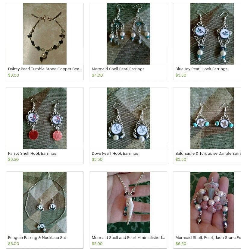 Shop is updated with earrings galore feel free to check it out. Go to the link in the bio of my shop's official account @worksofadreamershop to see the goods and remember with every item purchased there is a free gift that will be shipped with it! _____ #igshops #etsybuyers #etsy #etsyshop #handmadegoods #creativity #art #craftylove #follow #supporttheshops #spreadthelove #creativity  #checkitout #checkit #spamthisaccount #jewelry #earrings #necklace #wrappedstones #handwrapped #bookmarks…