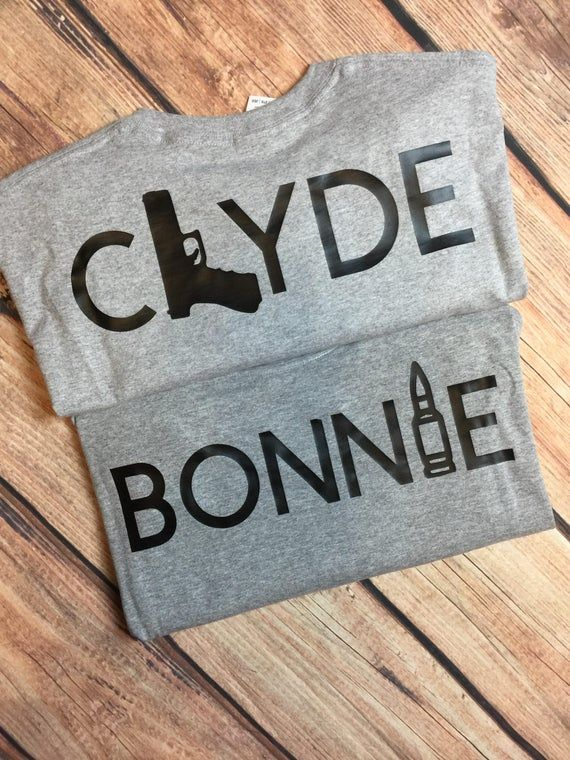 Bonnie & Clyde Couples Shirts Matching Couples Shirts Ride Or | Etsy
