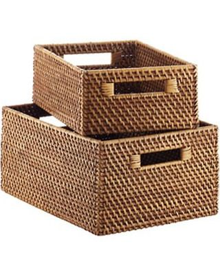 7272ab0836af09f584ad35959395262d - Better Homes And Gardens Woven Storage Bin Brown Durable Construction