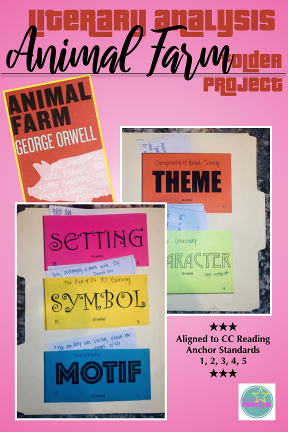 Literary Analysis Folder Project for use with Animal Farm by