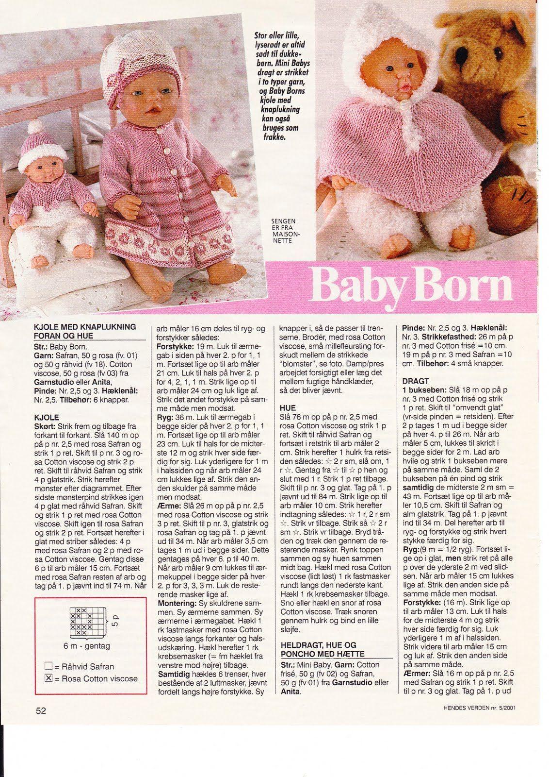 Billede: | Baby born | Pinterest | Álbum, Ropa de muñeca y Bebés ...