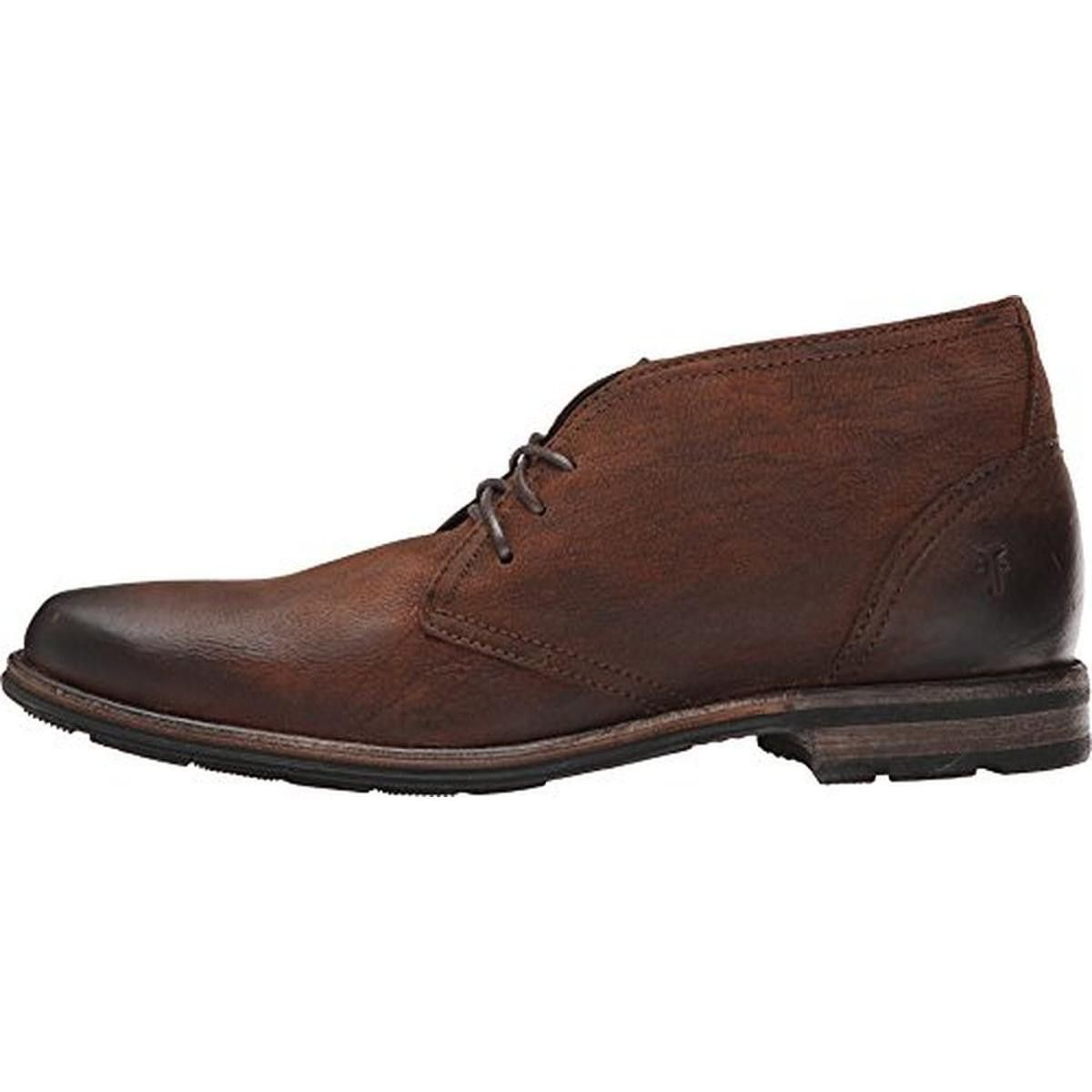 Frye Mens Oscar Leather Distressed Chukka Boots   Products ...