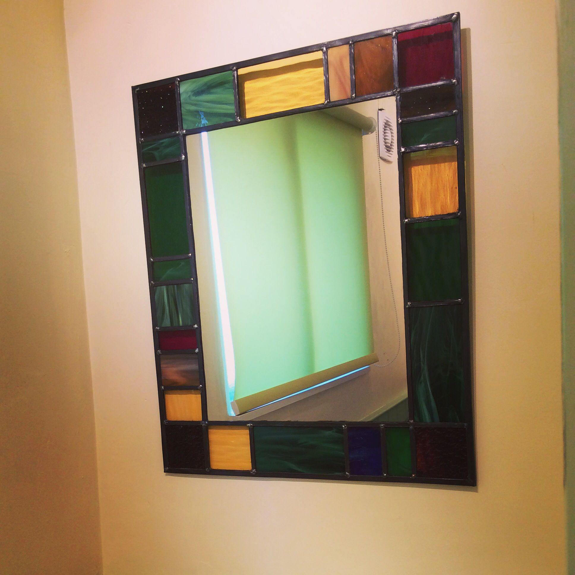 Leaded Glass Mirror Stained Glass Mirror Stained Glass Designs