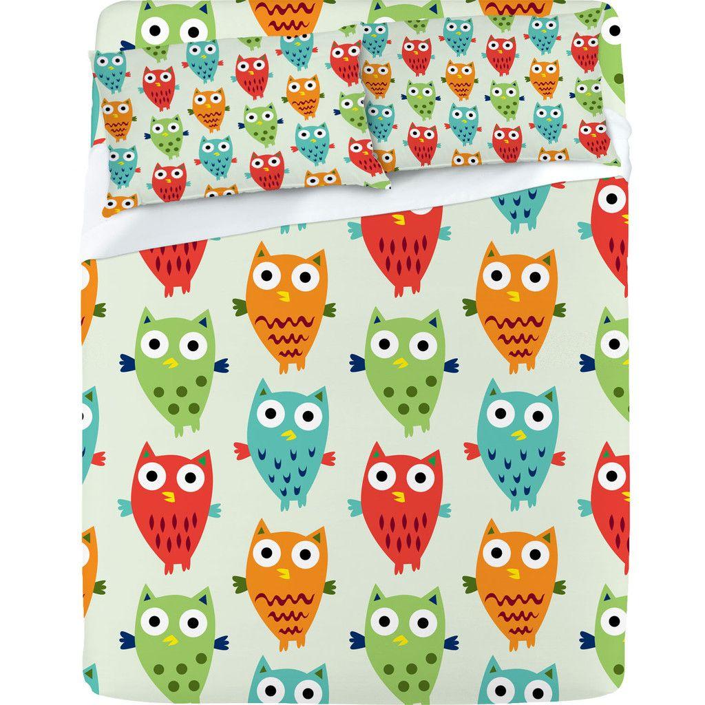 andi bird owl fun sheet set  nice bedding  pinterest  products  - andi bird owl fun sheet set